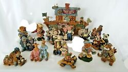 1999 Boyds Bears Noahs Ark Pageant Series - Full Set Of 16 New In Box Free Ship