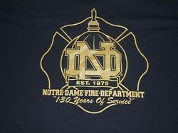 Notre Dame Fighting Irish Gold Domers Fire Dept Shirt 1879 130 Yrs Of Service 3x
