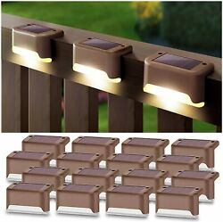 Denicmic Solar Deck Lights 16 Pack Fence Post Solar Lights For Patio Pool Stairs