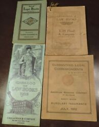 4 1900's Catalogue Of Law Books Correspondents And Blanks Wh Hubbard Greenville Il