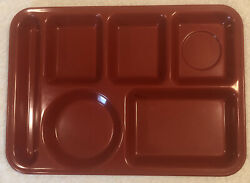 Texas Ware 146 Melmac Red Lunch Cafeteria Serving Divided Tray 10x14