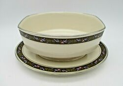 Vintage Franciscan Constantine Masterpiece China Gravy Bowl / Boat And Plate Usa