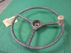 1948 49 50 51 52 Ford Truck Steering Wheel W/vintage Suicide Spinner Knob F1 F2