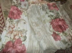2 Pc. Better Homes And Gardens Beautiful Textured Rose Panels Semi Sheer Exc
