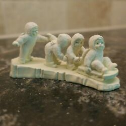 Dept 56 Snowbabies Miniatures I'm Right Behind You Painted Pewter 76627 1994