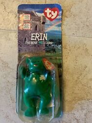 Rare Erin The Bear Beanie Baby Mcdonalds With 2 Errors Oakbrook And Year