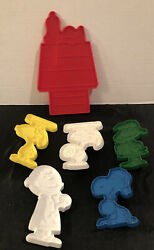 6 Vintage Hallmark Snoopy Peanuts Cookie Cutters Charlie Brown Lucy Red Baron