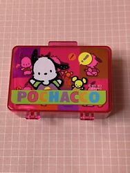 Vintage Sanrio Pochacco Pink Small Stamp Luggage Set Stationary Stickers 1993