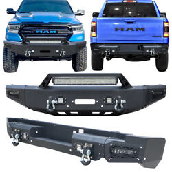 Vijay Fit 2019-2021 Ram 1500 Front And Rear Bumper W/winch Plate And Sensor Hole