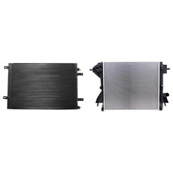 A/c Condenser And Radiator Kit For 11-14 Ford F-250 Super Duty F-350 Super Duty