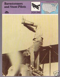 Barnstormers And Stunt Pilots Photo Aviation History Story Of America Card