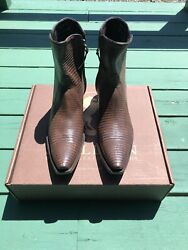 Both Pair- Included Stallion Brand New Black And Brown Teju Lizard Sizes 10d
