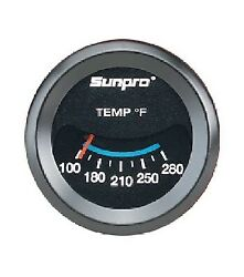 Sunpro 2 Inch Mechanical Water / Oil Temperature Gauge Kit New Cp7983 100-280 F