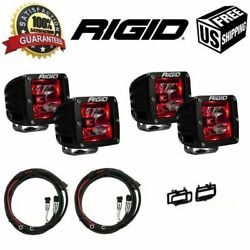 Rigid For Ram 2500/3500 2010-2015 Radiance Pod Red And Fog Light Kit And Harness