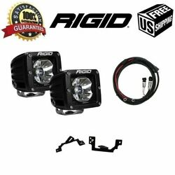 Rigid Radiance Pod White And Fog Light Kit And Harness Fits 03-09 Ram 2500/3500