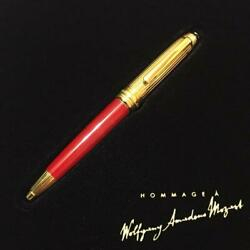 Solitaire Coral Red Mozart Size Ballpoint Pen Stationery