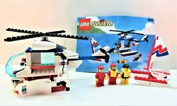 Lego Vintage Classic Town Coast Guard 6342-chopper-100 W/figs And Manual 1993