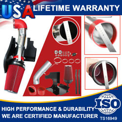 Red Cold Air Intake Kit Heat+ Shield Filter For 99-06 Gmc Chevy V8 4.8/5.3l 6.0l