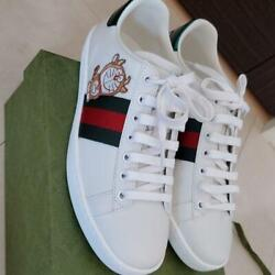 X Doraemon Ace Sneakers White Us 6.5 Box Ali New From Japan
