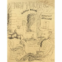 Garth Williams / New Yorker Magazine Cover Sketch Signed 1943