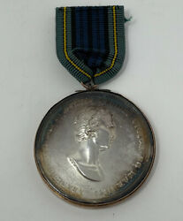 Antique British Highland Societys 1801 Victory In Egypt Silver Medal