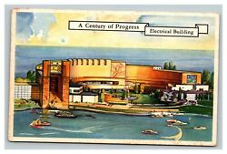 Vintage 1933 Postcard Electrical Building And Lagoon At The Chicago Worldand039s Fair