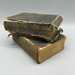 Two Early 1900's Bibles -holy Bible In English And Biblen In Danish Or Norwegian