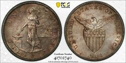 Us Philippines One Peso 1904-s Pcgs Au 55 Gold Toned
