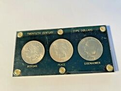 Lot 3 U.s. Silver Dollars 1921 Morgan, 1923 Peace And 1971 S Ike All Uncirculated
