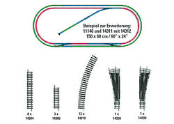 Trix 14312 Track - Supplement Pack H2 New Boxed