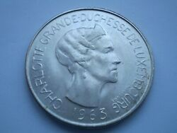 14scd8 Luxembourg Charlotte 1963 Silver 100 Francs