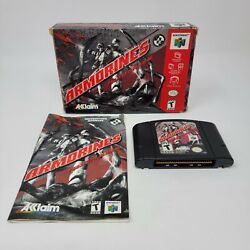 Armorines Project S.w.a.r.m. Nintendo 64, 1999 N64 Complete Tested Works Cib