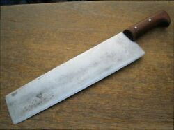 Huge Antique Italian Chef's Hand-forged Carbon Steel Pasta/dough/noodle Knife
