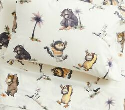 Pottery Barn Kids Where The Wild Things Are Standard Pillow Case Cover. Organic