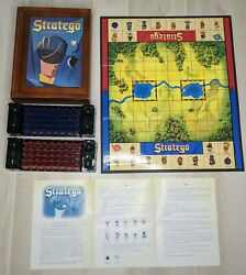 Stratego Vintage Game Collection Wooden Library Book Shelf Wood Box Complete
