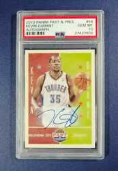 2012 Panini Past And Present Kevin Durant Rookie Rc 58 Psa 10