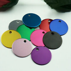 Wholesale 100pcs Round Dog Id Tags Name Tags Dog Tag For Pet Nameplate Aluminum