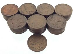 Lot Of 50 Canada 1948 One 1 Cent Penny Km 41 Circulated George Vi Coin V481