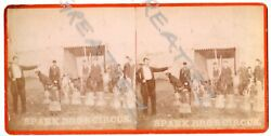 Rare Stereoview,spark Bro's Circus,dog Actandtrainer,t.w.rogers,carmichaels,pa.