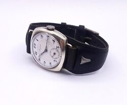 Longines Military Wrist Watch Silver Early 20c Antique 1920s Swiss Made