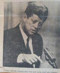 Hartford Courant John F Kennedy 1963 Collection Of 25 Pics And Articles