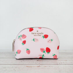 NWT Kate Spade Staci Wild Strawberries Small Dome Cosmetic Pouch Bag $49.95