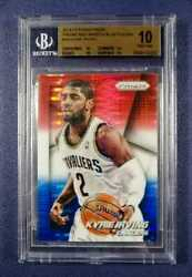 2014-15 Panini Prizm Kyrie Irving Red White And Blue Pulsar 18 Bgs 10