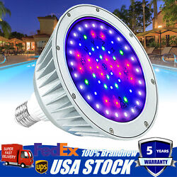 Led Color Change Replace Swimming Pool Light Bulb For Pentair Hayward 12v- 40w