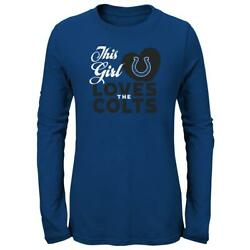 Girls Indianapolis Colts Tee This Girl Loves L/s T-shirt
