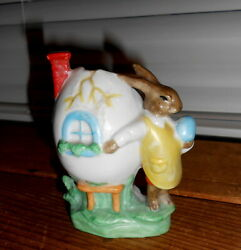 Vintage Germany Easter Bunny Rabbit Candy Container - Porcelain