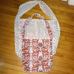 Free People Set Of 2 Cloth Tote Bags Large amp; Small EUC $12.99