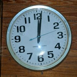 Vintage Mid Cent. General Electric Ge 14 Industrial Wall Clock Gold Model 2012a
