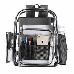 Clear Backpacks Heavy Duty Transparent Backpack for Work Security School Grey $23.99
