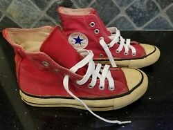 Vintage - Converse All Star Chuck Taylor - Red - 4.5 Men 6.5 Women - Usa Made